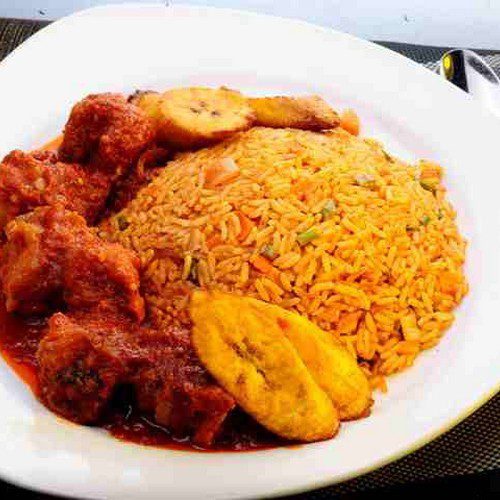 Beef Stew Rice Plantain