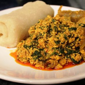 Egusi Chicken & Eba