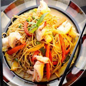 Singapore Noodles  Prawns