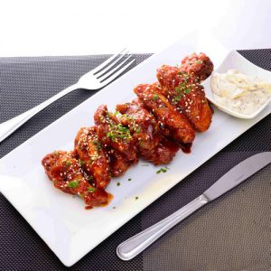 African spicy chicken wings: