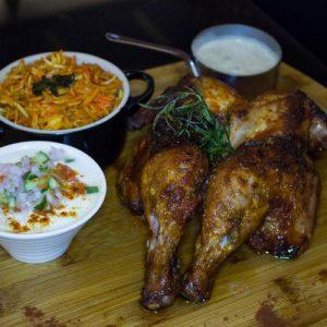 Tandoori whole baby chicken:
