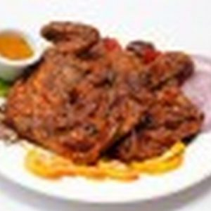 Whole baby chicken suya: