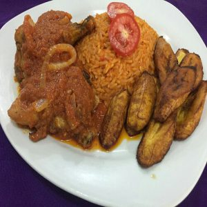 Chicken Stew Rice Plantain