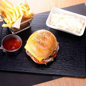 Chicken yummy burger: