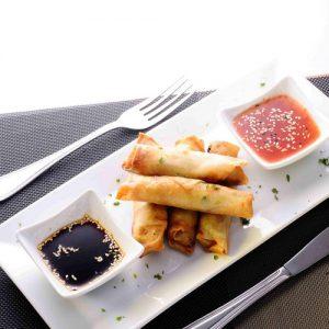 Vegetable spring rolls: